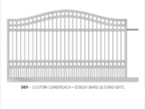 custom longreach and doggy bars sliding gate
