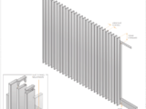 side view of radiator style 65mm slats sliding gate