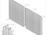 side view of radiator style 65mm slat swing gate