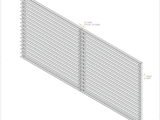 side view of horizontal (40x40mm) angle swing gate