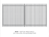vertical mixed angle (25x25mm/25x50mm) swing gate